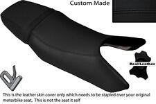 BLACK STITCH CUSTOM FITS HONDA CB1 400 89-90 DUAL LEATHER SEAT COVER
