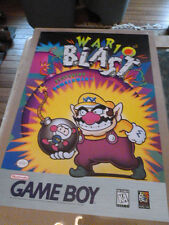 Wario Blast Nintendo Poster Video Game Store Promo Promotional Not Mario 1994