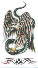 King Horse Big Eagle and Snake Temporary Tattoos HM328 New Arrival