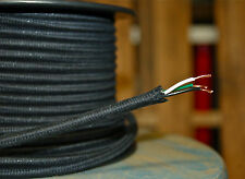 Black Cotton Cloth Covered 3-Wire Round Cord,
