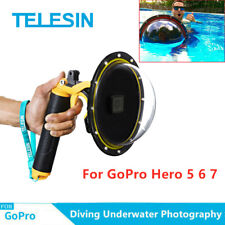 "TELESIN 6"" Dome Port Underwater Diving Camera Lens Cover Kit for GoPro 5 6 7 US"