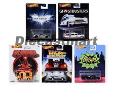 Hot Wheels 1:64 Retro Entertainment Set of 5 DMC55-956R Batmobile ECTO Deadpool