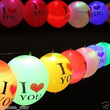 "10PC Light Up LED Balloon Lights 12""Latex Wedding Decorations Party Birthday Lot"