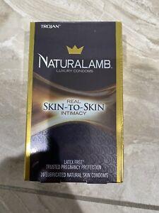 Trojan Naturalamb Luxury Lubricated Skin Condoms 10 CT - NEW - Exp 01/2022