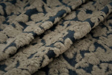 B3 LUXURIOUS DENIM INSPIRED KNIT BOILED WOOL BLEND CHUNKY JACQUARD MADE IN ITALY