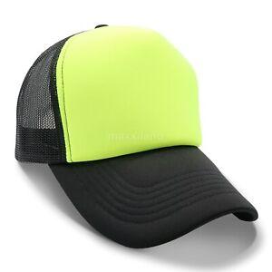 Trucker Hat Mesh Foam Cap Snapback Baseball Caps Adjustable Mens Womens Hats