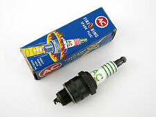 (1) Vintage AC 44S Fire Ring Spark Plug Four Equal Green Rings HOT RAT ROD CAR
