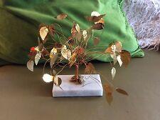Vtg Mid Century Kinetic Brass Wire Gold Pop Art Tramel Tree Sculpture Jere Era