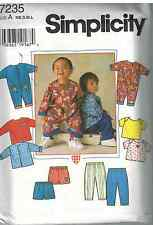 7235 UNCUT Vintage Simplicity SEWING Pattern Infant Baby Jacket Romper Pants OOP