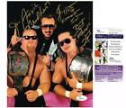 WWE HART FOUNDATION JIMMY BRET HART JIM ANVIL NEIDHART AUTOGRAPH JSA 8X10 PHOTO