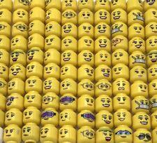 LEGO BULK LOT OF 50 NEW FEMALE GIRLS WOMEN MINIFIGURE HEADS TOWN MINIFIG PARTS