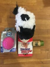 Kong Crumcheez Dog Toy/rogz Foam Ball And 15 Earth Friendly Waste Bags