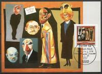 "Germany Berlin Maxi Card 1989 Art Painter Hannah Hoech ""The Journalists"""