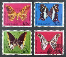 Schmetterlinge Butterflies 1977 Elfenbeinküste Ivory Coast 527-30 Gestempelt /68
