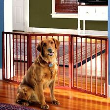 "Adjustable Extra Wide Pet Gate – 54"" Freestanding Dog Gate - Pet Fence"