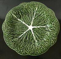 "Bordallo Pinheiro Raised Textured CABBAGE GREEN 11 3/4"" Dinner Plate 6296328"