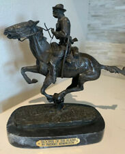 Trooper of the Plains. Bronze. Frederic Remington Sculpture with signature HEAVY
