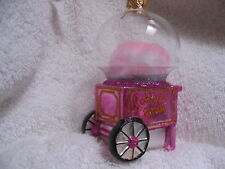 Cotton Candy Machine Glass Ornament - Fairground Favorite Treat  Made in Poland