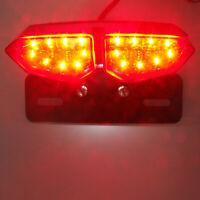 Universal Smoke LED Motorrad Rücklicht Blinker Bremslicht Heckleuchte Lampe