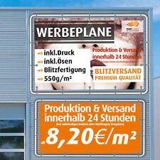 Werbebanner Werbeplane Plane Banner Druck Jede Grösse!! schneller Versand!!