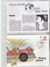 Numisbriefe aus aller Welt - Britisch Guyana und Infokarte