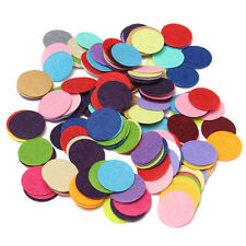200X 2.5cm Round Felt Pads Apparel Sewing & Fabric Patches Flower Brooch Decor R