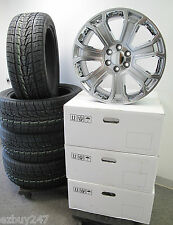 """22"""" NEW GMC SIERRA CHEVY FACTORY STYLE GRAY CHROME WHEELS 285-45-22 TIRES 5660"""