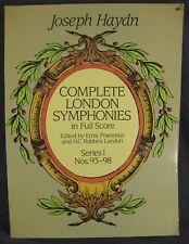 Joseph Haydn Complete London Symphonies in Full Score Series I Nos. 93-98