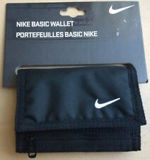 NIKE WALLET BLACK TRIFOLD FABRIC WITH LOGO  WITH ZIP