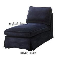 IKEA Ektorp Chaise Cover Dark Blue Slipcover Longue Lounge - Vellinge Dark Blue