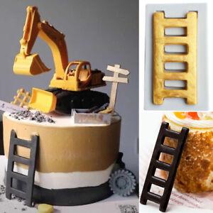 Silicone Ladder Fondant Sugarcraft Mould Cake Decor Icing Chocolate Baking Mold