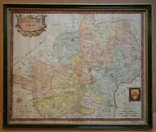 Hertfordshire Map. Original 18th Century Copperplate Map, Robert Morden 1722