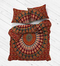 Cotton Mandala Bohemian Indian Queen Size Duvet Cover Set Bedding Quilt Hippie