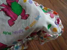 Barney Sesame Street Twin Size Canopy with ruffle for Bed Might be Hand Made?