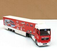 "Majorette Man TGX Toyota Racing Team Truck White Red Scale 1/87 (7.5"" Long)"