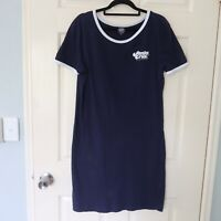 Santa Cruz tshirt dress size 10 short sleeve casual summer aline navy blue white