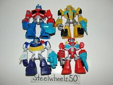 Transformers Rescue Bots Optimus Prime Bumblebee Chase Heatwave 4 Figure Lot HTF