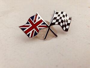 Jaguar Cross Flag Badge Quality Enamel Self Adhesive Badge bd4-c4