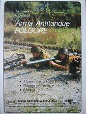 7/1987 PUB BREDA FOLGORE ANTICHAR ANTI TANK ANTITANQUE ORIGINAL SPANISH AD