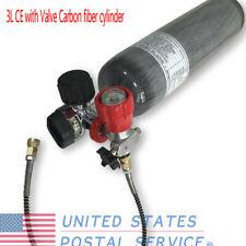 3L Ce 4500psi 30mpa Carbon Fiber Cylinder Scba Tank w/ Valve for Pcp Breathing