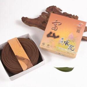 Fushan Sandalwood  富山檀香微煙水沉香 24 hrs incense coil 10 coils/ pack x1*