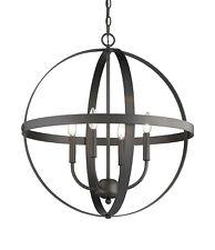 Globe 4-Light Modern Sphere Orb Chandelier ORB Oiled Bronze Pendant Open New!