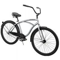 """✅Huffy 26"""" Cranbrook Men's Beach Cruiser Comfort Bike, Silver *SHIPS SAME DAY*✅"""