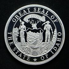 1985 Idaho National Governors Association John V Evans 1-oz .999 Silver Round