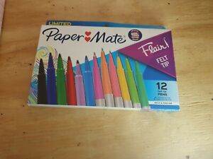 Paper Mate Flair Limited Edition 12 Pack Felt Tip Pens