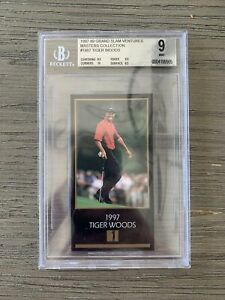 1997-99 Tiger Woods Grand Slam Ventures Masters Collection Rookie Rare BGS 9