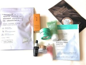 LOT of 9 LUXE Skincare Samples:Patchology,LANCOME,BOSCIA,JLO,SULWHASOO,CAUDALIE