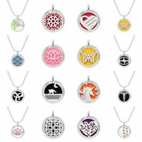 316L Stainless Steel Aromatherapy Essential Oil Necklace Heart Diffuser Pendant