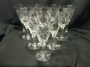 Seneca Fleur De Lis # 476 Water Goblets Set of 10