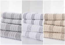 BELLE SPA ® 100 % SHEARED COTTON EMBELLISHED LUXURY HAND, BATH AND SHEET TOWEL